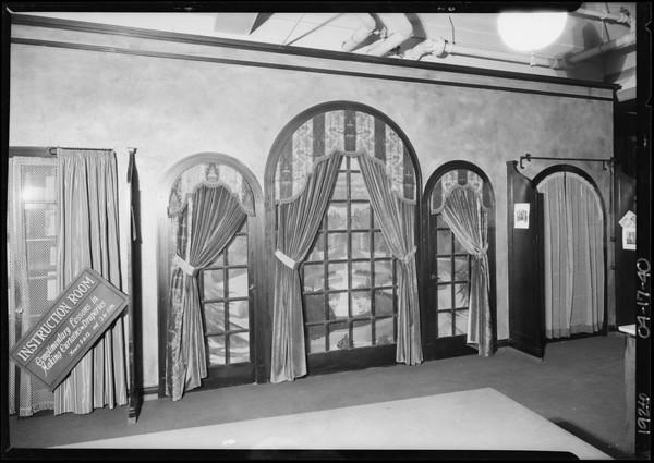Drapery workroom, Los Angeles, CA, 1926