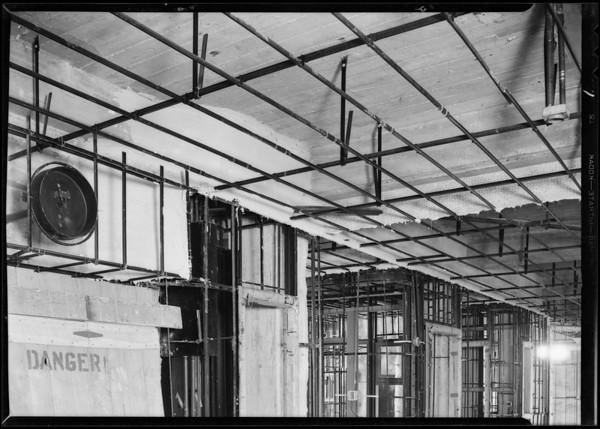 County Hospital, E.V. Fallgren, plastering contractor, Los Angeles, CA, 1931