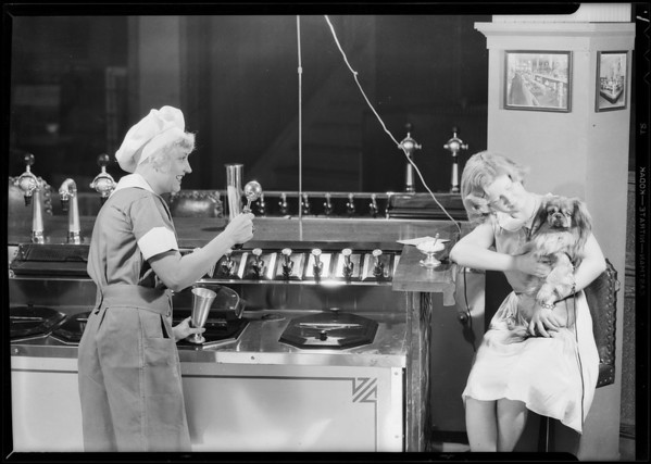 Soda fountain shots, Weber Showcase & Co., Southern California, 1931