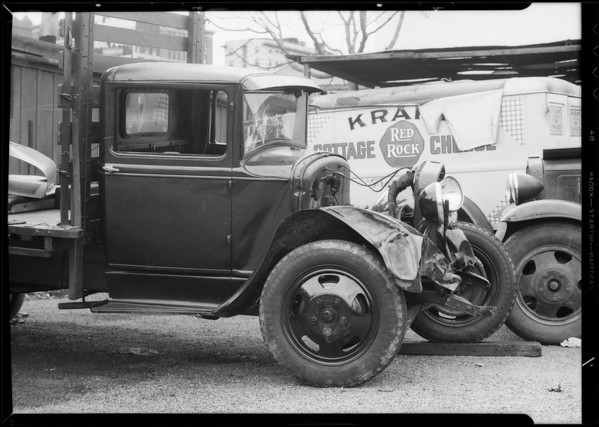 Ford truck at Cooke Brothers Garage, Southern California, 1934
