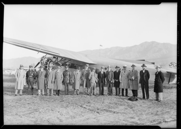 Glendale Chamber of Commerce at Glendale Airport, Glendale, CA, 1928