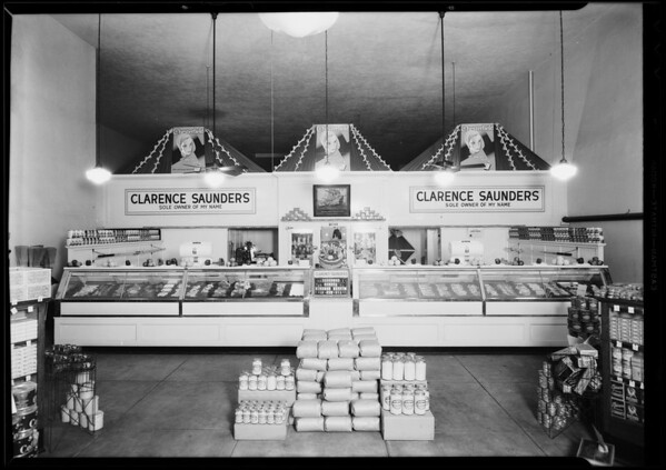 Interior of 10th & Broadway store, 10th Street & Broadway, Los Angeles, CA, 1930