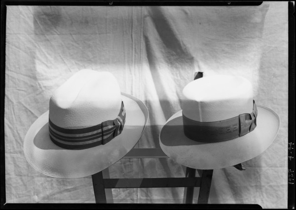 Straw hats, Broadway Department Store, Southern California, 1927