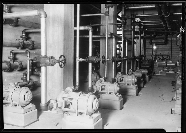 County Hospital, plumbing equipment, Los Angeles, CA, 1930
