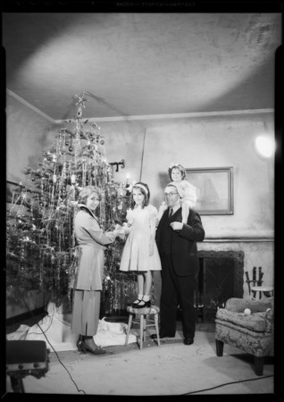 Christmas card photo, Southern California, 1934