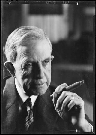 Portrait, John Steven McGroarty, Southern California, 1929