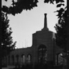 Coliseum entrance at sunset, Los Angeles, CA, 1932