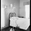 Douche arrangement beside bed, Los Angeles, CA, 1931