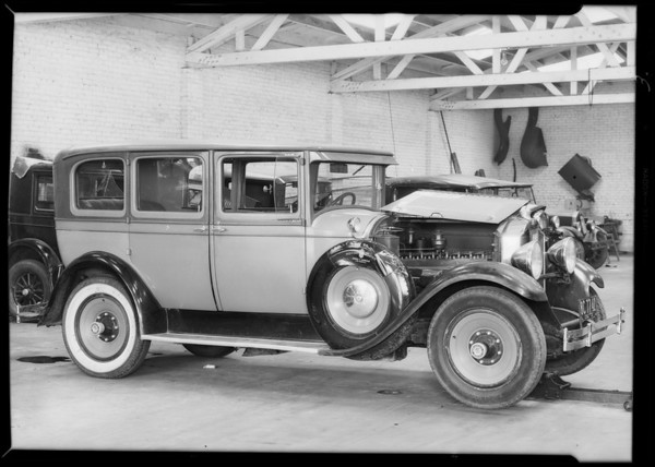 Wrecked Packard at Ace Auto Works, 1211 West Pico Boulevard, Los Angeles, CA, 1931