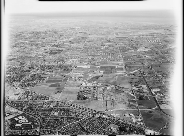 Aerial photographs of Los Angeles Harbor, Los Angeles, CA, 1928