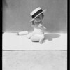 Baby under straw hat, Retail Hatters' Association, Southern California, 1931