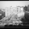Fruit growers exchange building progress, Southern California, 1934