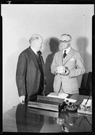 Mr. Eckdahl and Mr. Z.H. Kerr, Swift & Co., Southern California, 1931