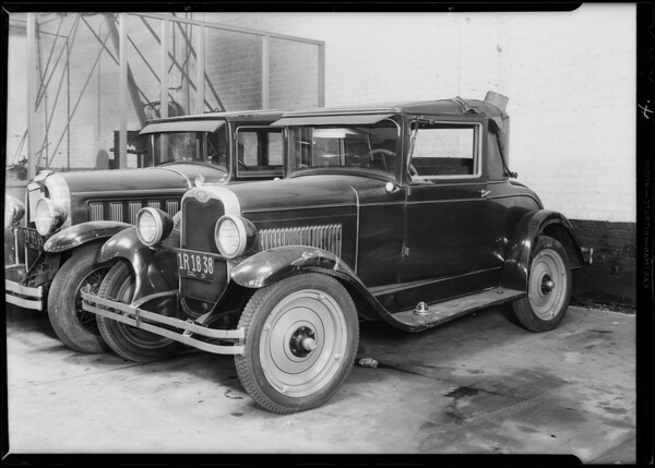 Chevrolet coupe, R.H. Horsley, Southern California, 1931