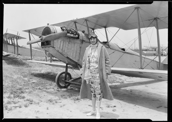 Arrival in airplane, Southern California, 1926