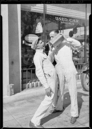 Pontiac car and Pennzoil, Southern California, 1926