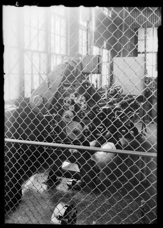Lathe at Standard Oil refinery, El Segundo, CA, 1930