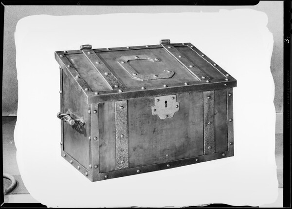 Wood box for fireside, Southern California, 1930