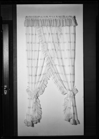 Lace curtain, studio shot, Southern California, 1931