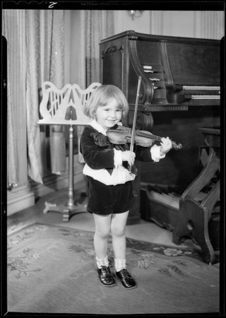 Baby orchestra - for composite, Southern California, 1931