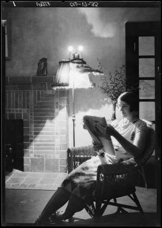 New floor lamp, Southern California, 1926