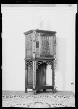 Pieces of dining room furniture, May Co., Southern California, 1931