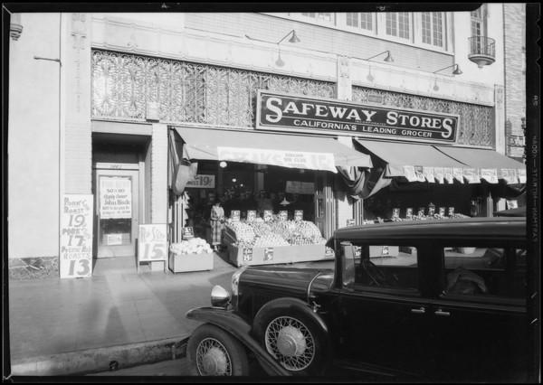 Doorway in Safeway store - 1443 & 1445 4th Street, Santa Monica, CA, 1935