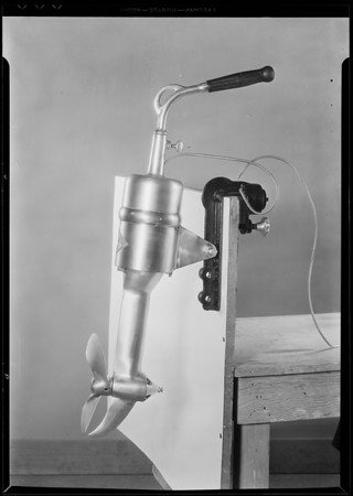Outboard motor, Perfect Form Tie Manufacturing Co., Southern California, 1931