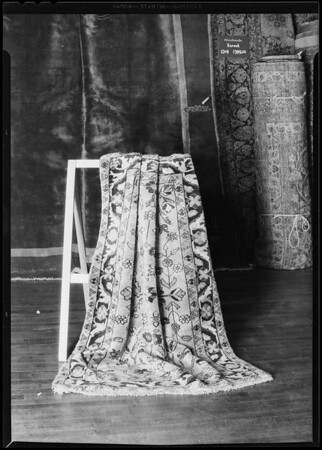Rug at Broadway Department Store, Los Angeles, CA, 1930