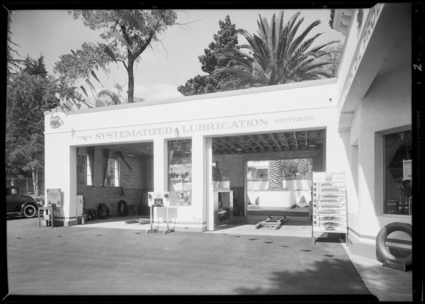 More views of new station at South Beachwood Drive and Franklin Avenue, 6051 Franklin Avenue, Los Angeles, CA, 1932