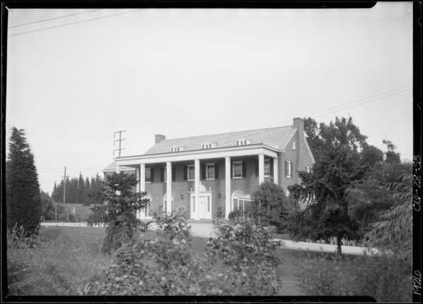 Mr. Bain's house, Southern California, 1926