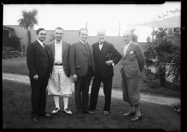 Hollywood breakfast club, Southern California, 1931