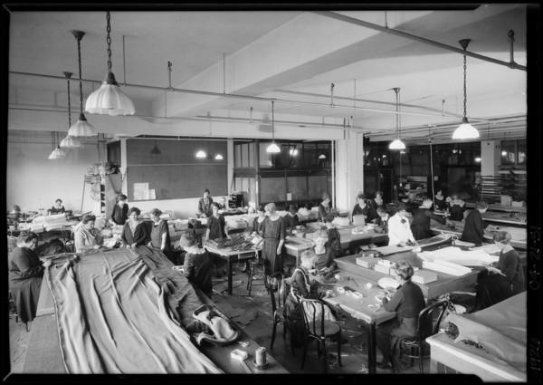 Drapery workroom, Broadway Department Store, Los Angeles, CA, 1926