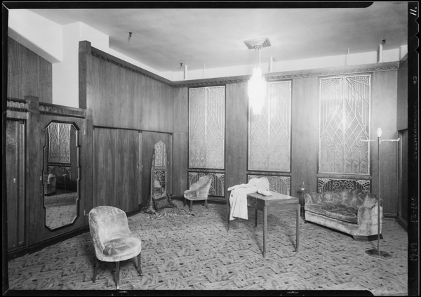 3rd floor finish, Southern California, 1929
