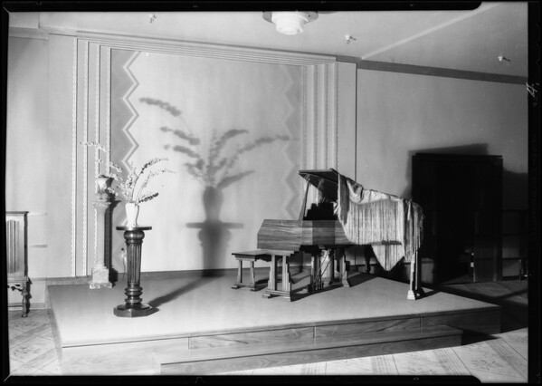 Piano department, May Company, Southern California, 1930