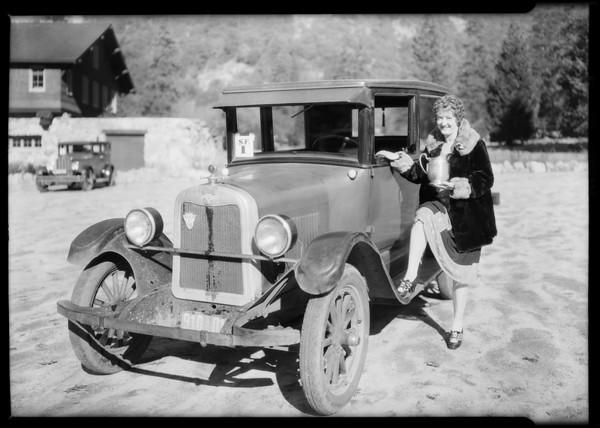Chevrolet - Yosemite economy run, 28.29 ton miles, Buelah Lewelling, Southern California, 1926