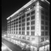 Exterior of store at night, Los Angeles, CA, 1930