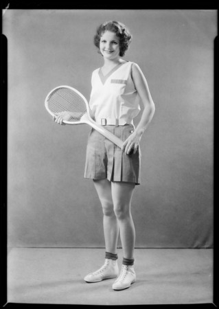 Tennis & gym outfits, Southern California, 1931