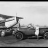 Midge Miller at Western Airport, Southern California, 1927
