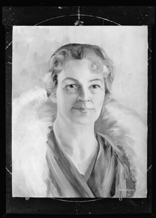 Portrait painting by H.M. Irwin, Broadway Department Store, Southern California, 1931