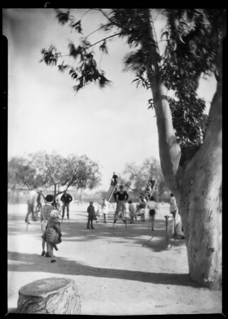 Artistic playground shot, Southern California, 1930