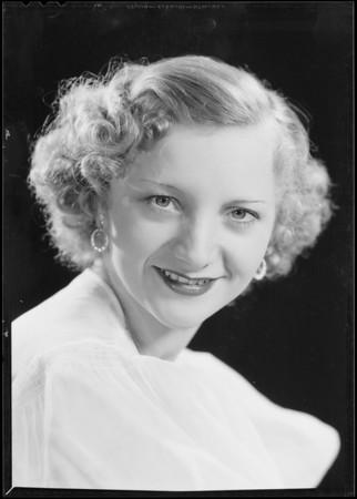 Betty Sieger - radio singer, Southern California, 1934
