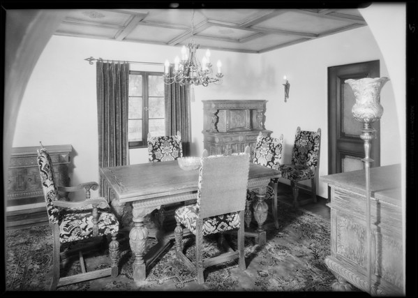 Interiors at 1444 Portia Street, Los Angeles, CA, 1931