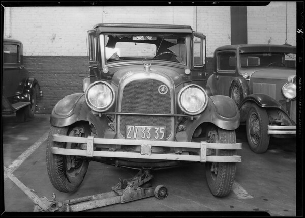 Wrecked Chevrolet, Southern California, 1931