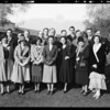 Group at Breakfast Club, Southern California, 1930
