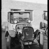 Wreck for slides, Yellow Cab, Southern California, 1926