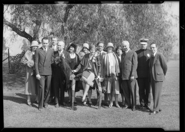 Breakfast club group, Southern California, 1930
