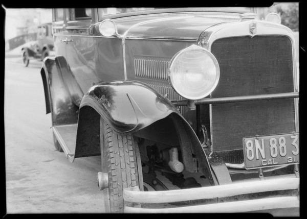 1929 Nash sedan, J.A. Hull, owner, Southern California, 1931
