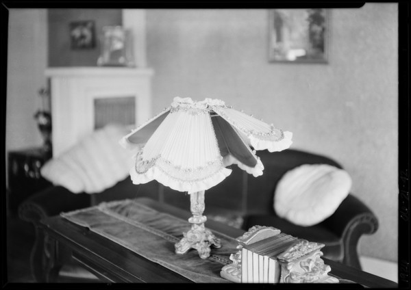 Bed lamp & etc., Southern California, 1926