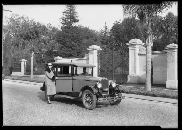 Hupmobile & Mrs. Dennison, car-- 1927 Hupmobile, Southern California 1927